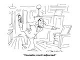 """Counselor, court's adjourned."" - Cartoon Regular Giclee Print by Jerry Marcus"