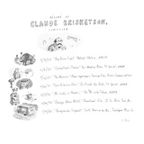 Résumé of Claude Brisketson, composer - Cartoon Regular Giclee Print by Roz Chast