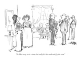 """He likes to say we're a team, but really he's the coach and I'm the team."" - New Yorker Cartoon Premium Giclee Print by Robert Weber"