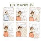 Bus Incident 1 - Cartoon Regular Giclee Print by Roz Chast