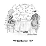 """My backburner's full."" - Cartoon Regular Giclee Print by Victoria Roberts"