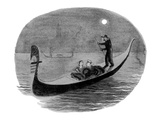 Couple argue as they ride in Venitian gondola. - New Yorker Cartoon Premium Giclee Print by Carl Rose