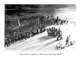 """General Varus's compliments. Which way to Teutoburger Wald"" - New Yorker Cartoon Regular Giclee Print by George Booth"