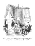 """""""Has it occurred to you that every time we decide to face basic issues, al…"""" - New Yorker Cartoon Premium Giclee Print by Charles Saxon"""