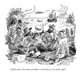 """Don't worry. If it turns out tobacco is harmful, we can always quit."" - New Yorker Cartoon Premium Giclee Print by Garrett Price"