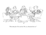 """""""That makes four 'Yes'es and one 'No, no, a thousand times no.'"""" - New Yorker Cartoon Giclee Print by Dean Vietor"""