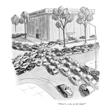 """There's a run on the bank!"" - New Yorker Cartoon Premium Giclee Print by Robert J. Day"