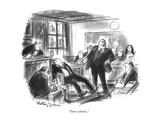 """""""Your witness."""" - New Yorker Cartoon Giclee Print by Jr., Whitney Darrow"""