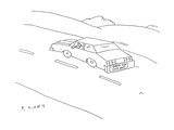 I Brake For Cute Guys - Cartoon Regular Giclee Print by Peter C. Vey
