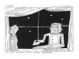 It Was A Robot That Irons Pajamas. - Cartoon Regular Giclee Print by Victoria Roberts