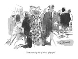 """Stop bouncing bits of trivia off people."" - New Yorker Cartoon Premium Giclee Print by Joseph Mirachi"