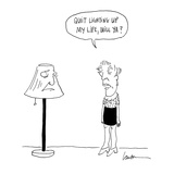 Quit lighting up my life, will ya' - Cartoon Regular Giclee Print by Mary Lawton