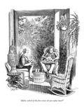 """Alden, which of the five senses do you value most"" - New Yorker Cartoon Premium Giclee Print by Charles Saxon"