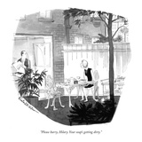"""Please hurry, Hilary. Your soup's getting dirty."" - New Yorker Cartoon Premium Giclee Print by Rowland Wilson"