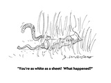 """You're as white as a sheet!  What happened"" - Cartoon Regular Giclee Print by Jerry Marcus"
