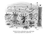 """Artificial coloring, artificial flavoring, artificial glop, artificial sl…"" - New Yorker Cartoon Regular Giclee Print by George Booth"