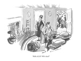 """Hello A.& P.  We're back!"" - New Yorker Cartoon Premium Giclee Print by Helen E. Hokinson"