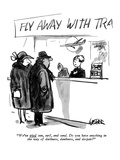 """We've tried sun, surf, and sand. Do you have anything in the way of darkn…"" - New Yorker Cartoon Premium Giclee Print by Robert Weber"
