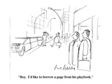 """Boy.  I'd like to borrow a page from his playbook.""  - Cartoon Regular Giclee Print by Mort Gerberg"