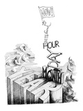 """Now! Second, Minute, Hour, Day, Month, Year"" - New Yorker Cartoon Premium Giclee Print by Saul Steinberg"