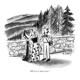 """All I see is more trees."" - New Yorker Cartoon Premium Giclee Print by Barney Tobey"