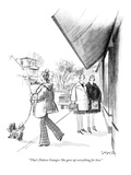 """That's Dolores Granger. She gave up everything for love."" - New Yorker Cartoon Premium Giclee Print by Charles Saxon"