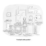 """""""I've had it with zucchini."""" - Cartoon Reproduction procédé giclée par Liza Donnelly"""