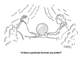 """Is there a particular browser you prefer"" - Cartoon Regular Giclee Print by Carole Cable"