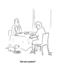 """""""Eat your greens!"""" - Cartoon Giclee Print by Chon Day"""