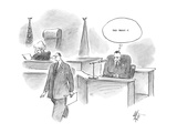 defendant who has just been questioned in court thinks slyly 'They bought … - Cartoon Regular Giclee Print by Frank Cotham