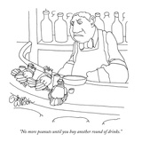 """No more peanuts until you buy another round of drinks."" - New Yorker Cartoon Premium Giclee Print by Gahan Wilson"