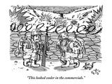 """This looked cooler in the commercials."" - New Yorker Cartoon Premium Giclee Print by Farley Katz"
