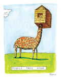 "(""Mobile Tree Home"") - New Yorker Cartoon Premium Giclee Print by Zachary Kanin"