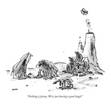 """Nothing is funny. We're just having a good laugh."" - New Yorker Cartoon Premium Giclee Print by George Booth"