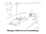 """George, I think we've won something."" - Cartoon Regular Giclee Print by Michael Maslin"