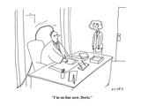 """I'm on line now, Doris."" - Cartoon Regular Giclee Print by Peter C. Vey"