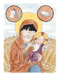 Madonna and Child - Cartoon Regular Giclee Print by Danny Shanahan