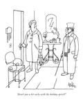 """Aren't you a bit early with the holiday spirit"" - New Yorker Cartoon Premium Giclee Print by George Price"