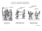 Early Exercise Machines. Three early, non-electric versions of exercise eq… - New Yorker Cartoon Premium Giclee Print by Zachary Kanin