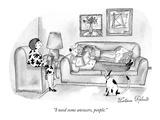 &quot;I need some answers, people.&quot; - New Yorker Cartoon Premium Giclee Print by Victoria Roberts