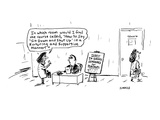 """In which room would I find the course called, """"How to Say 'Sit Down and Sh… - Cartoon Regular Giclee Print by David Sipress"""