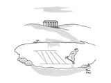Roman on skating pond is cutting a figure '8' in Roman numerals. - New Yorker Cartoon Premium Giclee Print by Chon Day