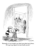 """Remember, it's not enough to say what's great about mac'n'cheese. We've g…"" - New Yorker Cartoon Premium Giclee Print by Pat Byrnes"