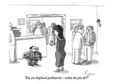 """I'm an elephant podiatrist—what do you do"" - New Yorker Cartoon Premium Giclee Print by Zachary Kanin"