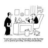 """I can't give you a raise based solely on the fact that you're good at gro…"" - Cartoon Regular Giclee Print by Bob Zahn"