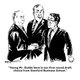 """Young Mr. Dodds here is our first round draft choice from Stanford Busine…"" - Cartoon Giclee Print by William Hamilton"