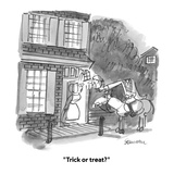 """Trick or treat"" - Cartoon Regular Giclee Print by Boris Drucker"