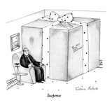 """Suspense"" - New Yorker Cartoon Giclee Print by Victoria Roberts"