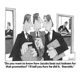 """Do you want to know how Jacobs beat out Isoksen for that promotion  I'll…"" - Cartoon Regular Giclee Print by William Haefeli"