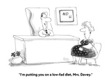 """I'm putting you on a low-fad diet, Mrs. Davey."" - Cartoon Giclee Print by Harley L. Schwadron"